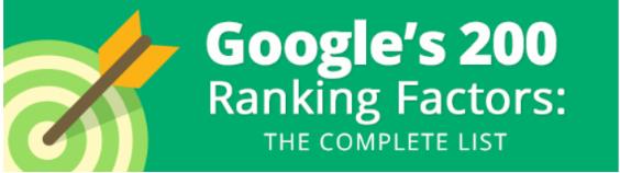 Danh sách 200 yếu tố xếp hạng website của Google